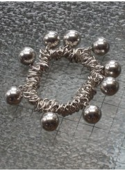 Stretch Bracelet with Silver Pearls