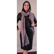 Sequin Scarf with Black Moto Jacket with Croc Skirt