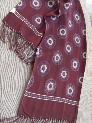 Vintage Men's Scarf with Dotted Circles