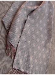 Vintage Men's Scarf Grey Silk