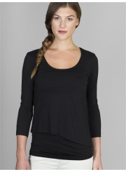 Lilla P Double Layer Scoop Neck Tee
