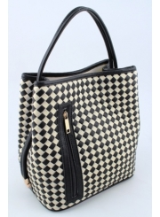 Black and White Check Handbag