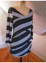 Shredded Stripe Tee Shirt