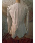 White Faux Leather Jacket--Size M